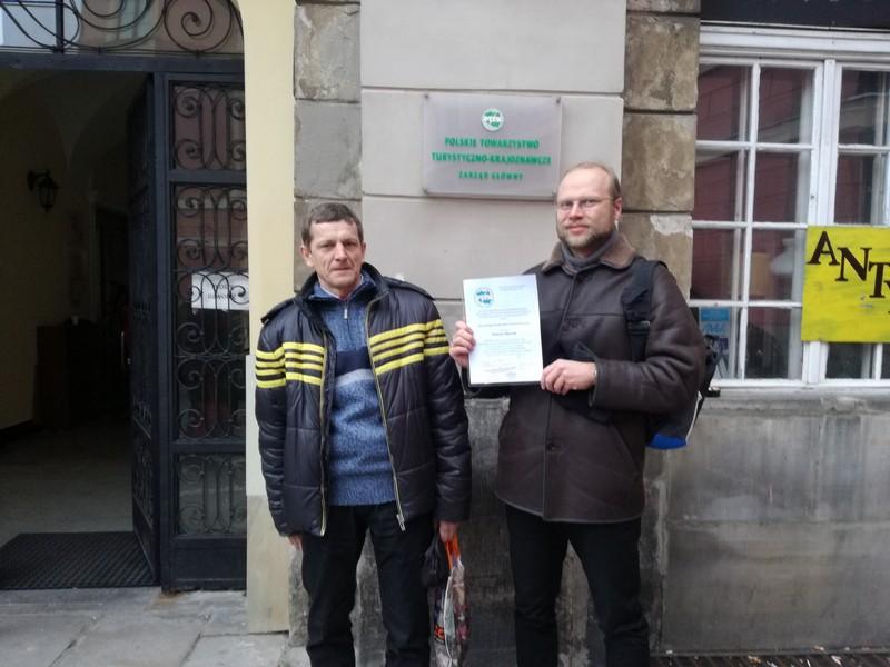 Nowi Honorowi Przodownicy Turystyki Kolarskiej
